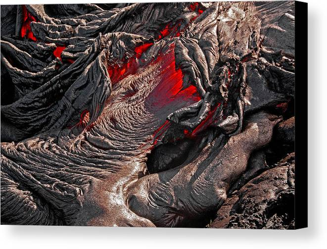 Hawaii Canvas Print featuring the photograph Ring Of Fire by Jim Southwell