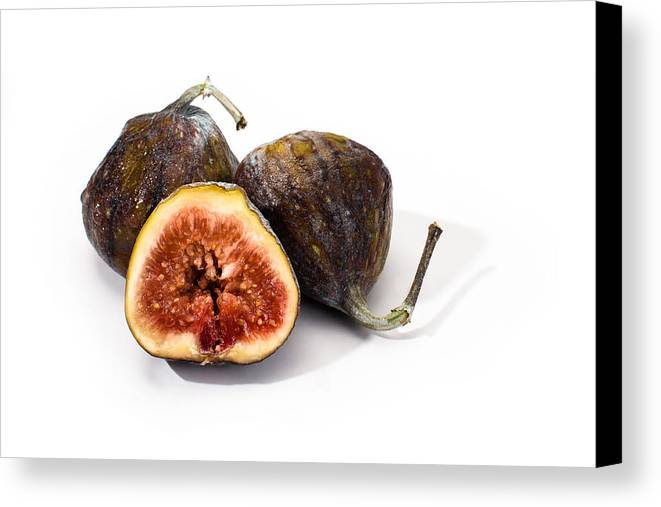 Fresh Canvas Print featuring the photograph Ripe Figs Isolated by Frank Gaertner