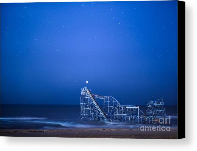 Starjet Canvas Print featuring the photograph Roller Coaster Stars by Michael Ver Sprill