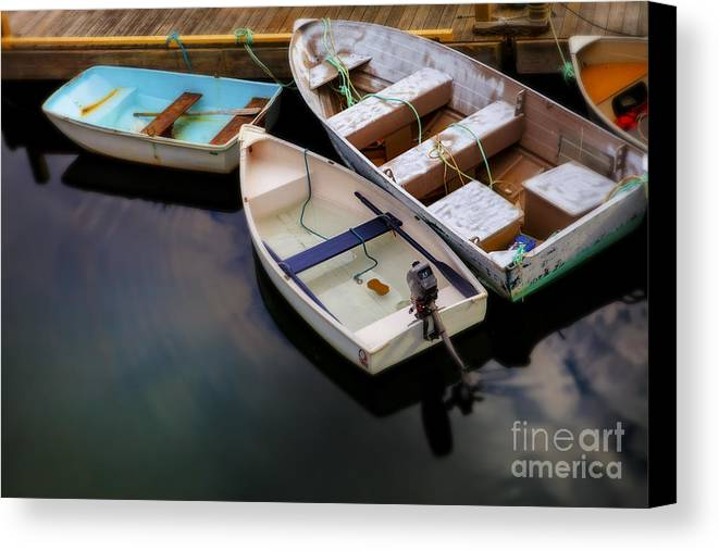 Rowboats Canvas Print featuring the photograph Rowboats by Diane Diederich