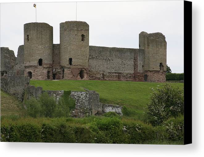 Castles Canvas Print featuring the photograph Ruddlan Castle 2 by Christopher Rowlands