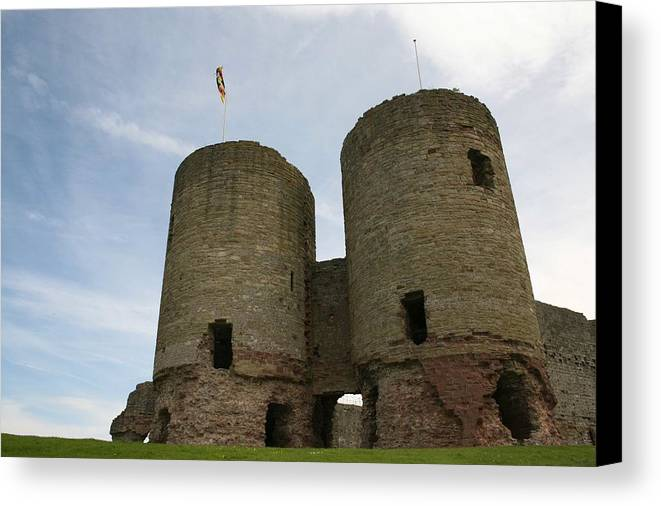 Castles Canvas Print featuring the photograph Ruddlan Castle by Christopher Rowlands