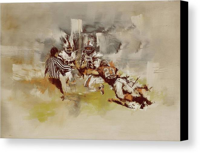 Sports Canvas Print featuring the painting Rugby by Corporate Art Task Force