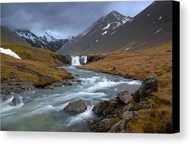 Iceland Canvas Print featuring the photograph Runaway by Jim Southwell