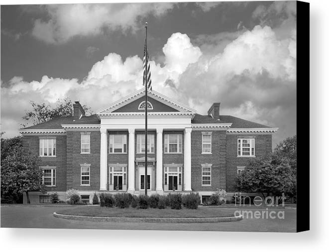 Administration Canvas Print featuring the photograph Sage College Administration Building by University Icons