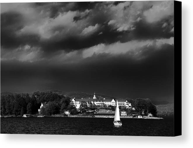 Adirondack's Canvas Print featuring the photograph Sailing In Front Of The Sagamore by David Patterson