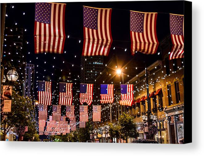 4th Of July Canvas Print featuring the photograph Salute To Old Glory by Teri Virbickis