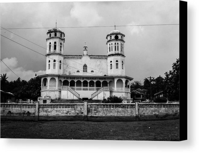 Church Canvas Print featuring the photograph Samoan Church by S Rodriques