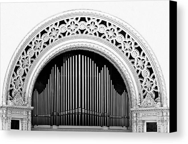 San Diego Canvas Print featuring the photograph San Diego Spreckels Organ by Christine Till