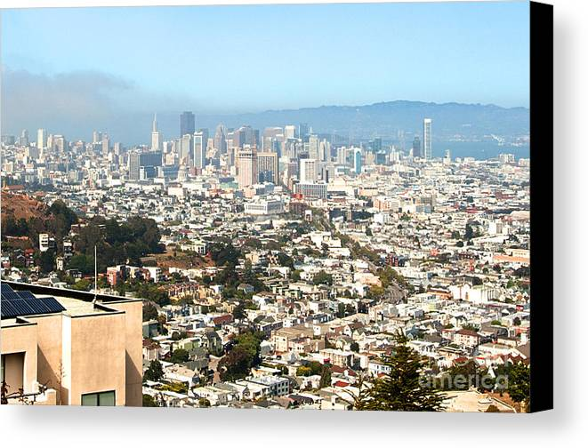 Canvas Print featuring the photograph San Francisco City Vista by Artist and Photographer Laura Wrede
