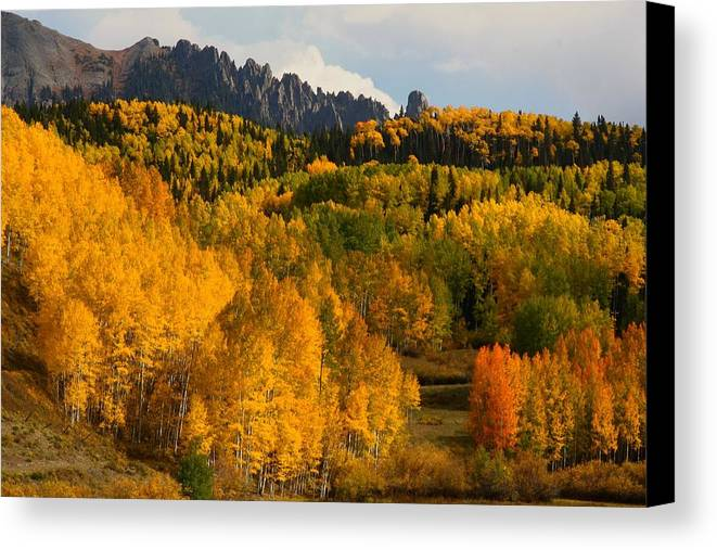 San Canvas Print featuring the photograph San Juan Mountains In Autumn by Jetson Nguyen