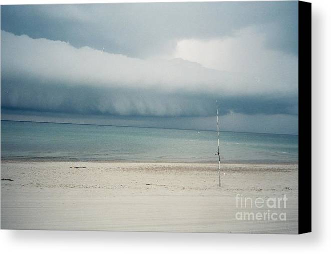 Sandy Neck Beach Canvas Print featuring the tapestry - textile Sandy Neck Beach Sandwich by Lisa Marie Germaine