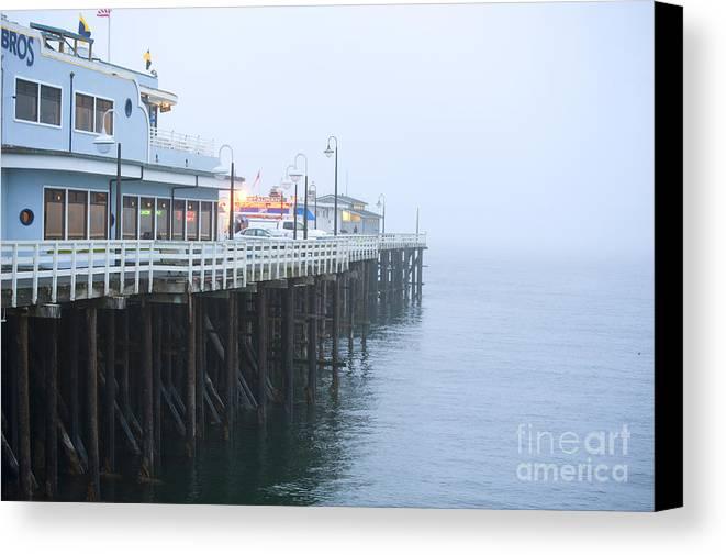 Santa Cruz Pier Canvas Print featuring the photograph Santa Cruz Pier In The Fog by Artist and Photographer Laura Wrede
