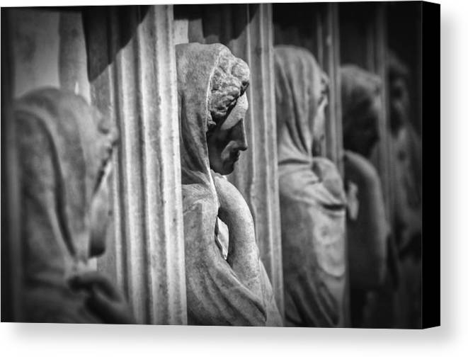 Archaeology Canvas Print featuring the photograph Sarcophagus Of The Crying Women by Taylan Apukovska