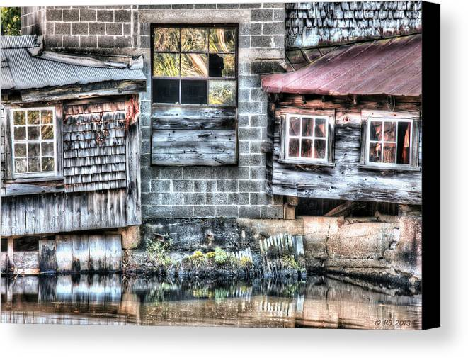 Architecture Canvas Print featuring the photograph Saw Mill Reflections by Richard Bean