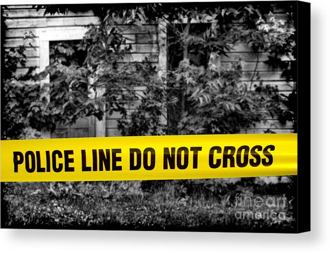 Police Canvas Print featuring the photograph Scene Of The Crime by Olivier Le Queinec