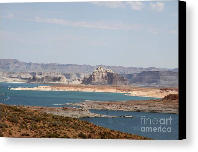 Clouds Canvas Print featuring the photograph Scenic Lake Powell by Christiane Schulze Art And Photography
