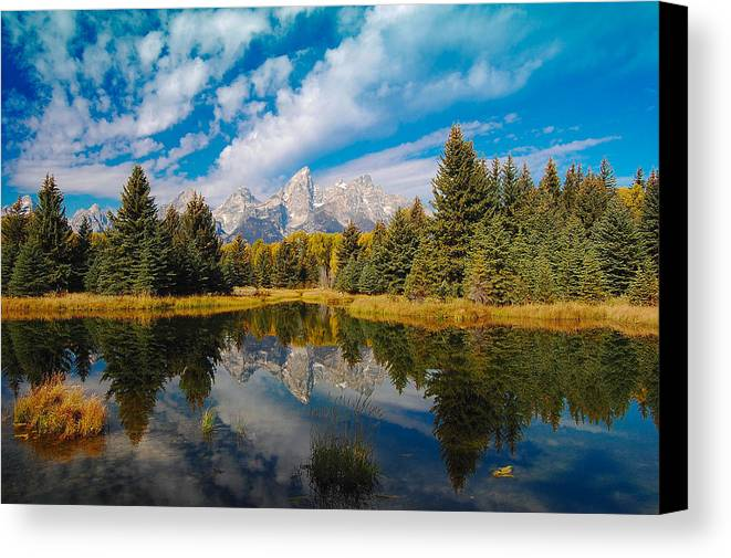 Autumn Canvas Print featuring the photograph Schwabacher Autumn by Jim Southwell