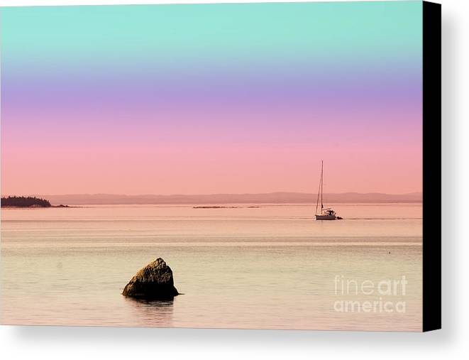 Sea Canvas Print featuring the photograph Sea Of Tranquility by Aimelle