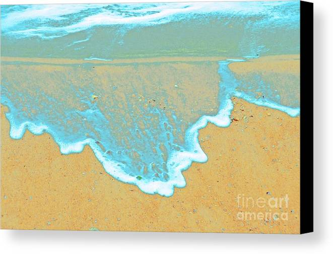 Water Protographs Canvas Print featuring the photograph Seafoam Abstract by Cindy Lee Longhini
