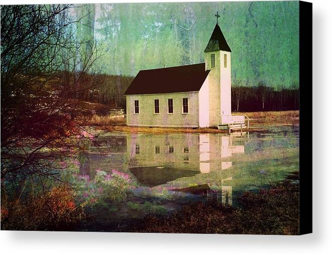 Church Canvas Print featuring the photograph Secluded Sanctum by Shirley Sirois