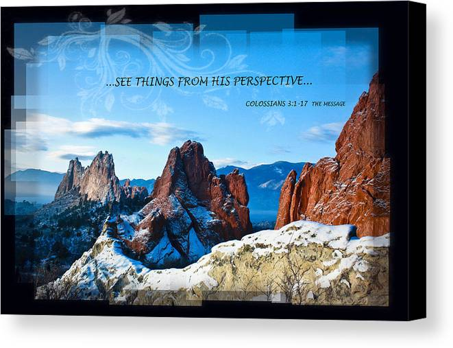 Snow Canvas Print featuring the photograph See Things From His Perspective by Bruce Hamel