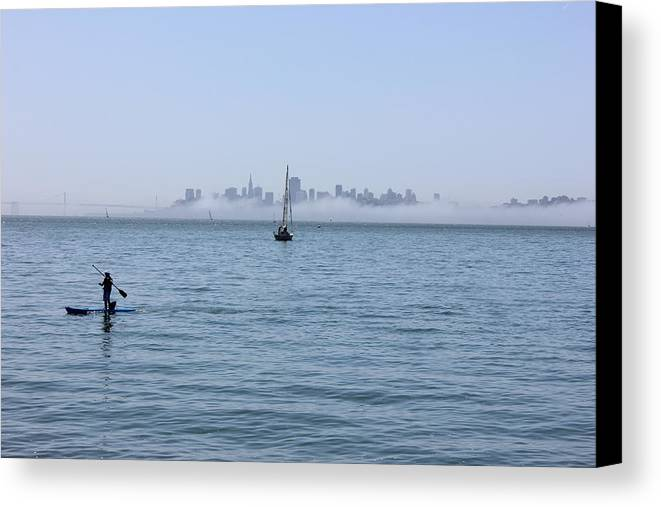 San Francisco Canvas Print featuring the photograph Serenity On The Bay by Michael Williams