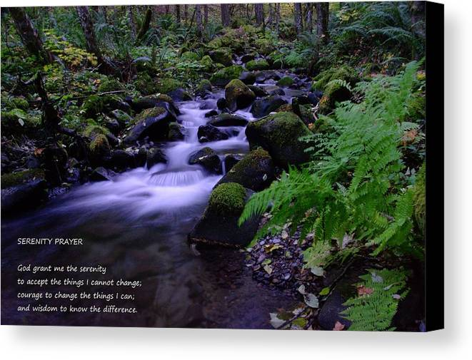 Water Canvas Print featuring the photograph Serenity Prayer by Jeff Swan
