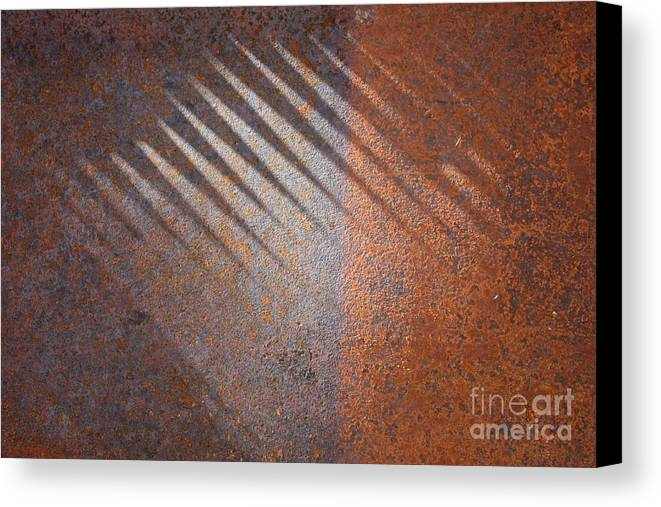 Rust Canvas Print featuring the photograph Shadows And Rust by Carol Groenen
