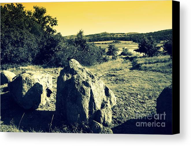 Landscape Canvas Print featuring the photograph Shadows by Mickey Harkins