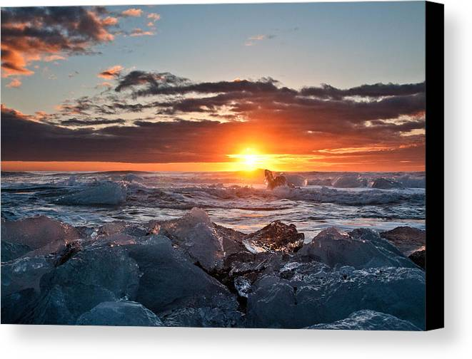 Iceland Canvas Print featuring the photograph Shaken Not Stirred by Jim Southwell