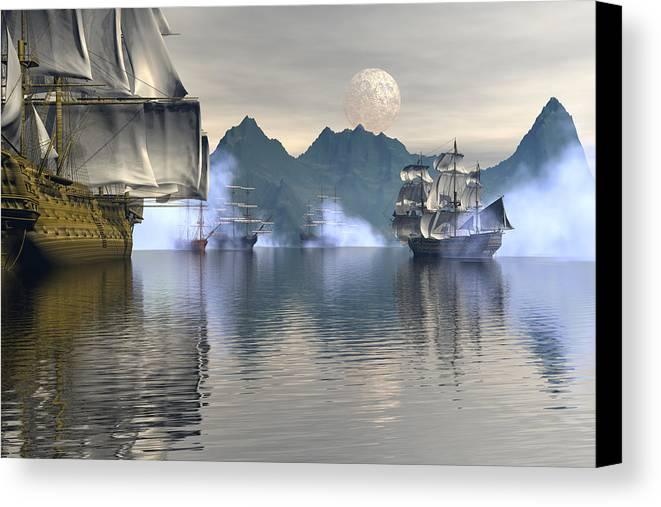 Bryce Canvas Print featuring the digital art Shelter Harbor 2 by Claude McCoy
