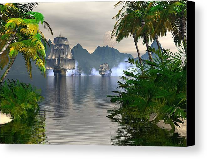 Bryce Canvas Print featuring the digital art Shelter Harbor Longshot by Claude McCoy