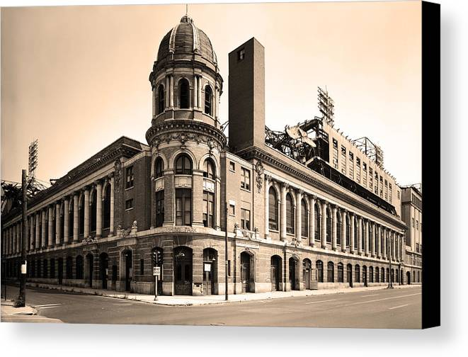 Shibe Park Canvas Print featuring the photograph Shibe Park by Bill Cannon