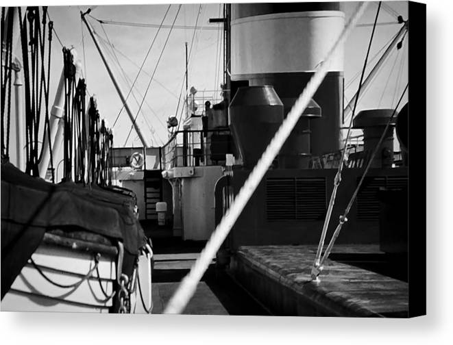 Canvas Print featuring the photograph Ship Detail by Cathy Anderson