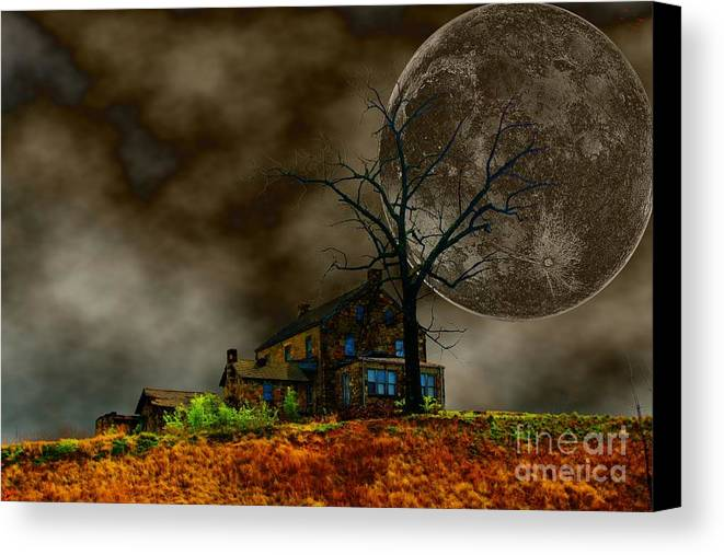 Eerie Canvas Print featuring the photograph Silent Hill 2 by Dan Stone