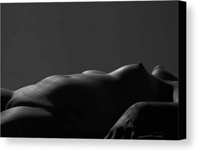 B&w Canvas Print featuring the photograph Silver Lined by Jeremy Bartlett