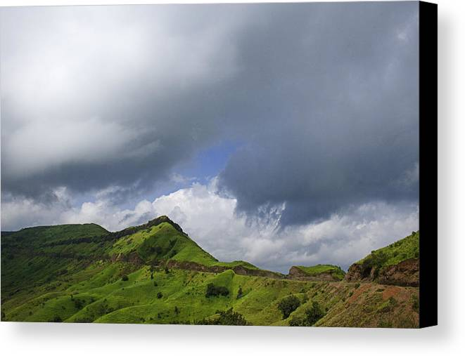 Over Canvas Print featuring the photograph Skc 3548 Over The Western Ghats by Sunil Kapadia