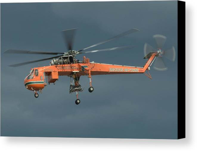 Sikorsky Canvas Print featuring the photograph Skycrane by Jeff Cook