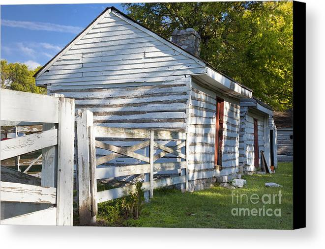 Slave Canvas Print featuring the photograph Slave Huts On Southern Farm by Brian Jannsen