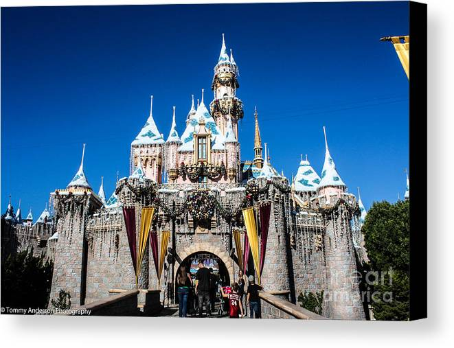 Disneyland Canvas Print featuring the photograph Sleeping Beauty's Castle by Tommy Anderson