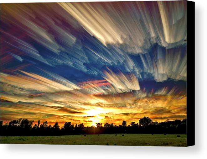 Smeared Sky Sunset Canvas Print Canvas Art By Matt Molloy