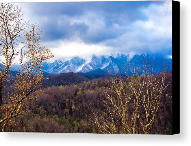 Smoky Mountains Canvas Print featuring the photograph Smoky Blue by William Micol