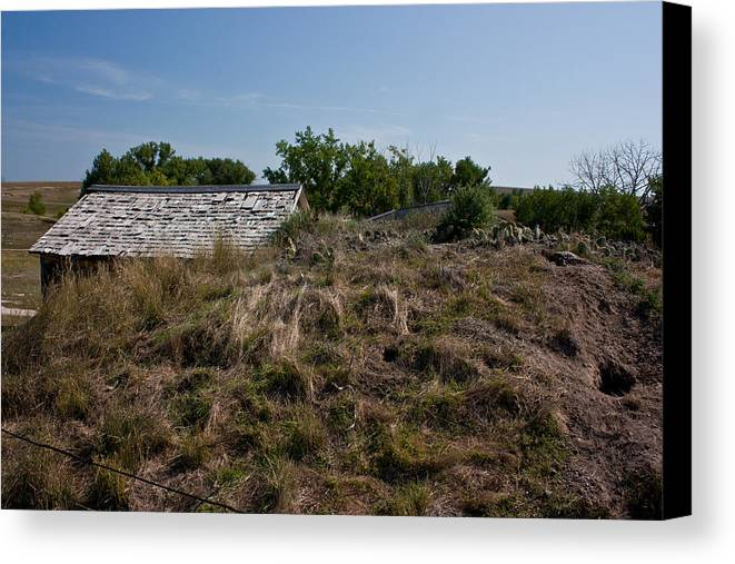 Prairie Canvas Print featuring the photograph Sod Roof by Claus Siebenhaar