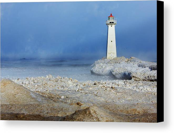 Lighthouse Canvas Print featuring the photograph Sodus Point Lighthouse by Everet Regal