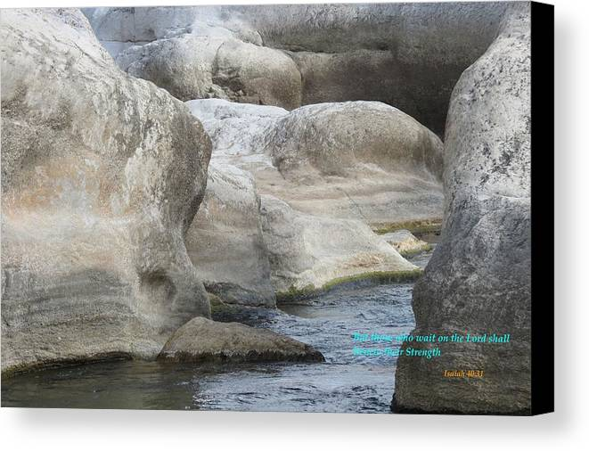 Christian Art Canvas Print featuring the photograph Soothing Water by David Norman