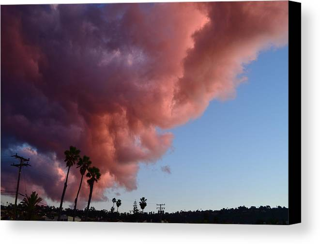 Clouds Canvas Print featuring the photograph South Bay Clouds by Candace Stalder