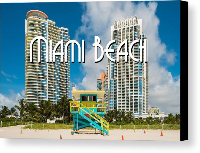Architecture Canvas Print featuring the photograph South Beach by Raul Rodriguez