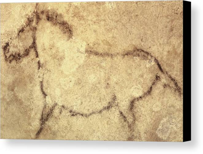 Horizontal Canvas Print featuring the photograph Spain. Kortezubi. Horse 13000 Bf. Upper by Everett