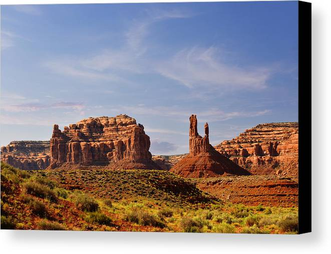 Valley Canvas Print featuring the photograph Spectacular Valley Of The Gods by Christine Till